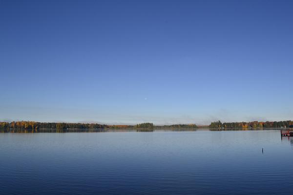 Sky, lake, moon