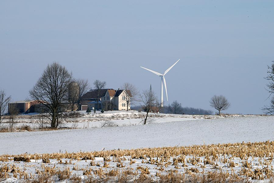 farm and windmill