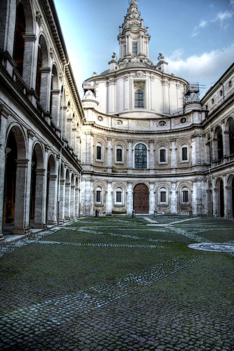 S.Ivo alla Sapienza: a masterpiece of Borromini.