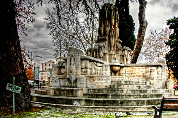 The Roman fountains in winter