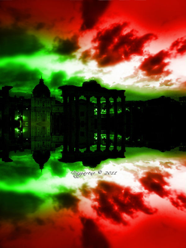 Green White Red: the  colors of the Italian flag