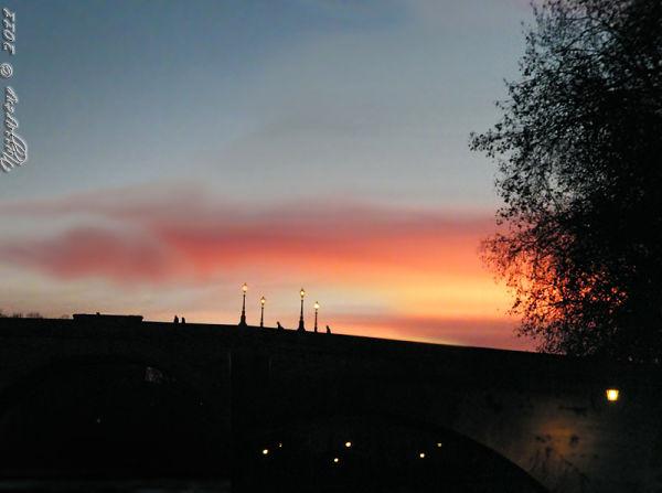Bridge, rome, night