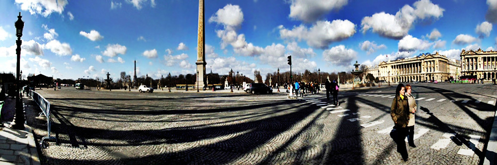 paris, light, shodows, panorama