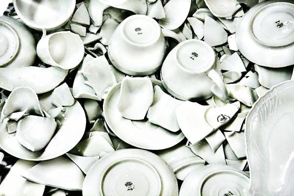 Pieces of white