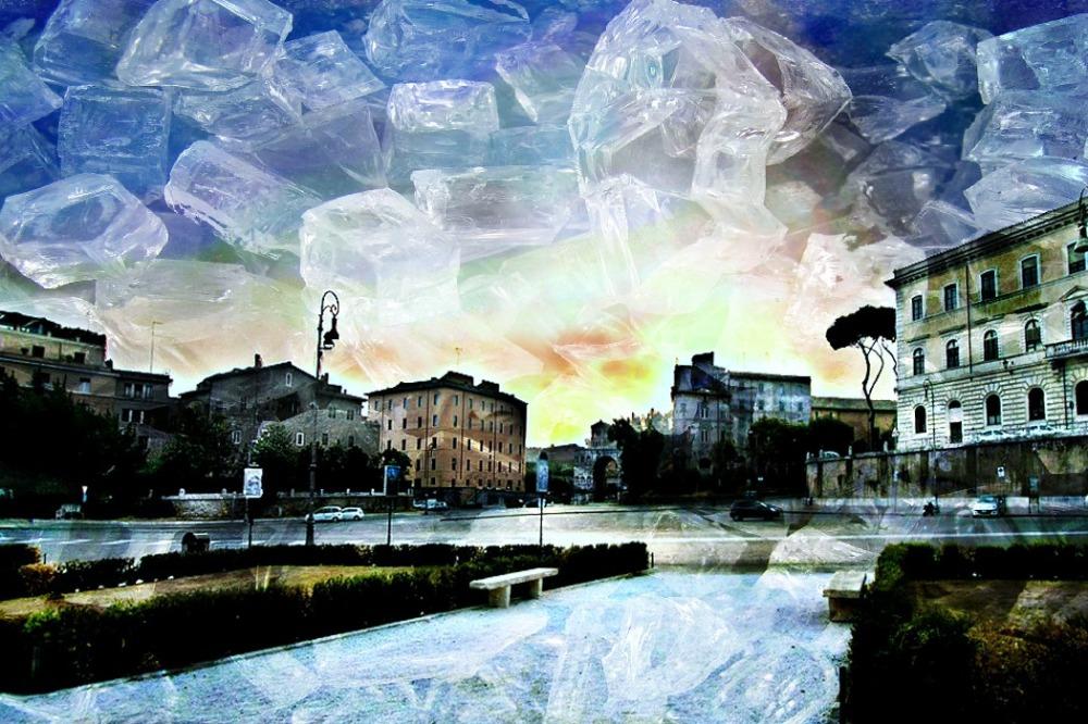 winter, rome