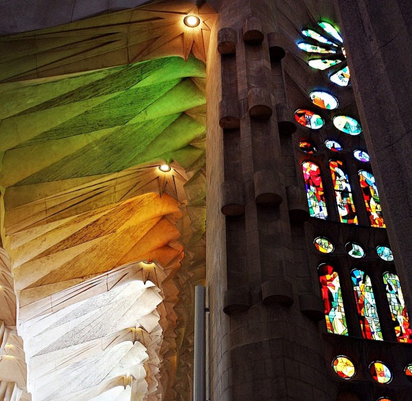 Sagrada familia: the light of God