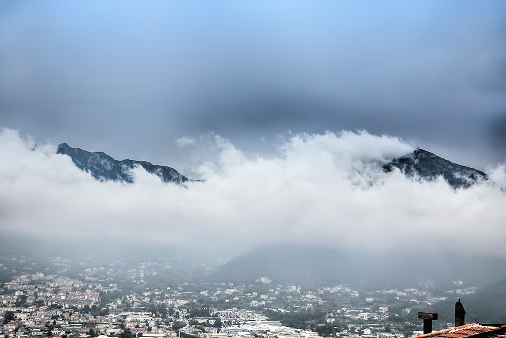 The low clouds