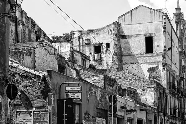 palermo, cityscape, monochrome, bw