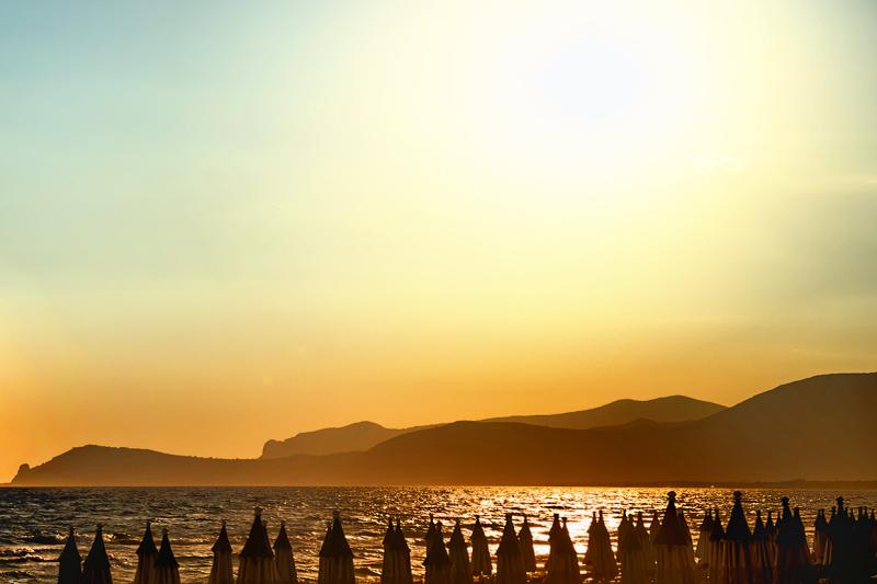 Sunset at Sperlonga beach