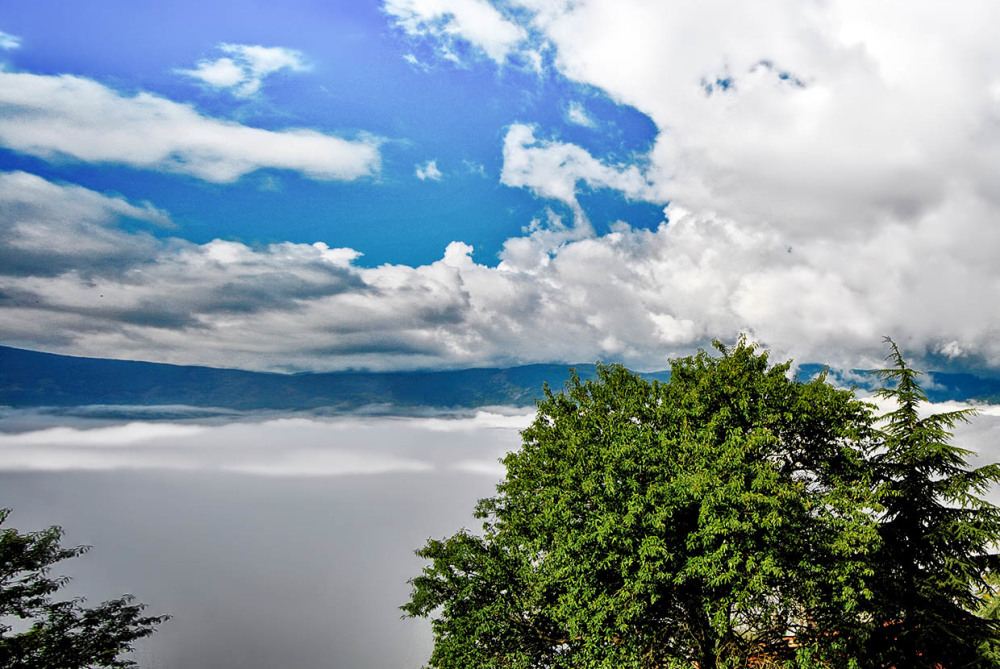 Fog and clouds