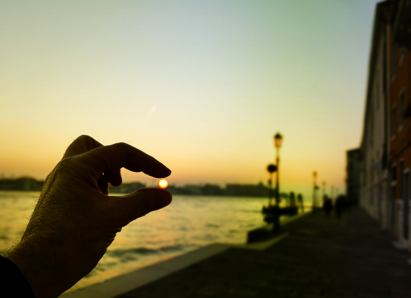 Between my fingers