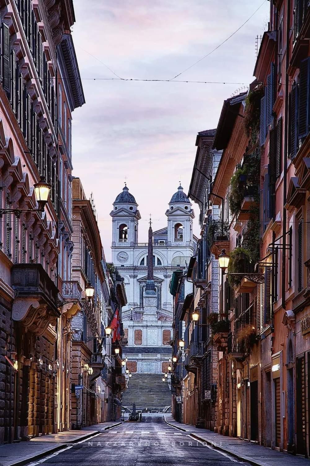 Via Condotti:  the street of luxury in Rome