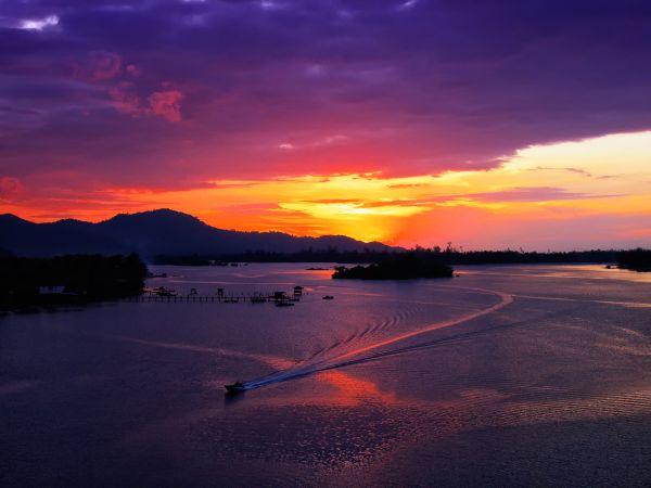 sunset @gayang, Sabah