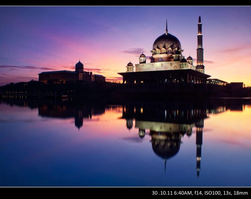 sunrise @Putra mosque, Putrajaya