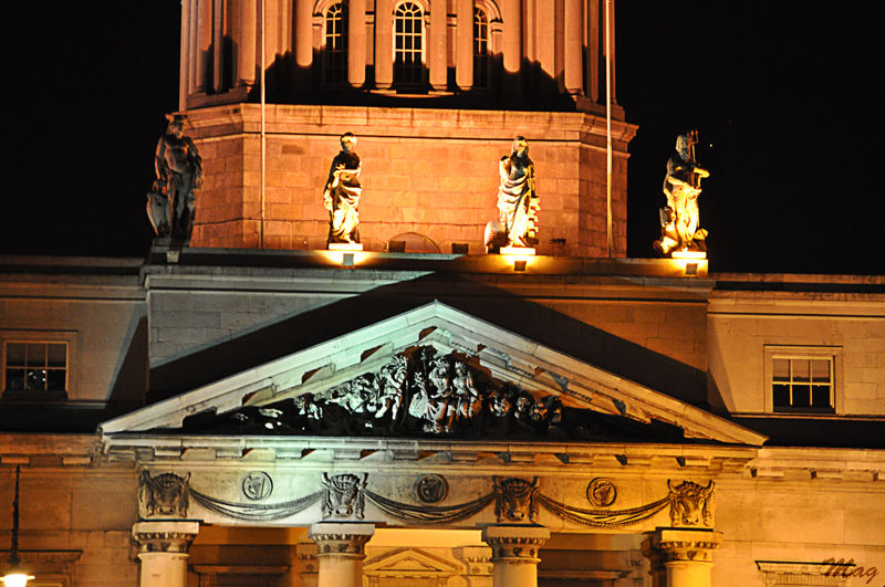 Façade sud de la Custom House de Dublin