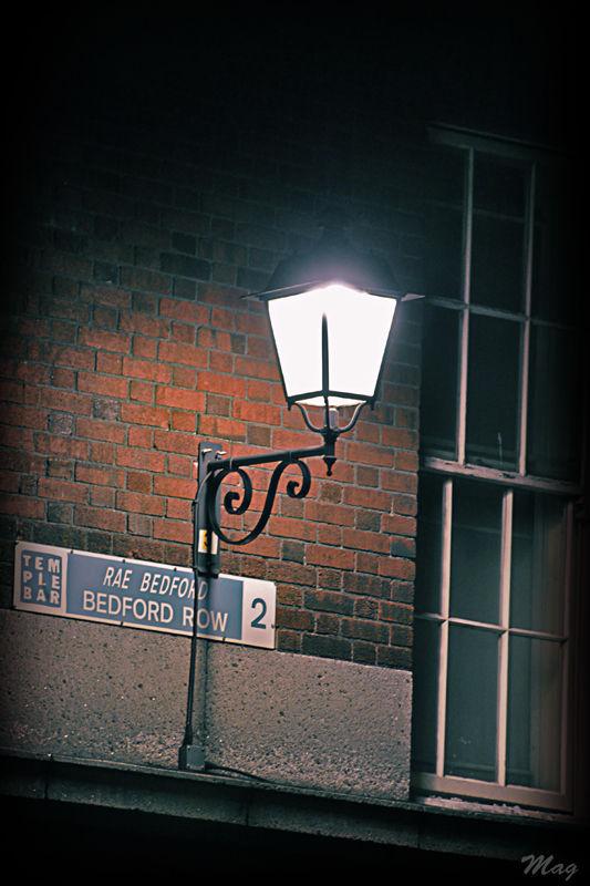 Lantern in a dublin street