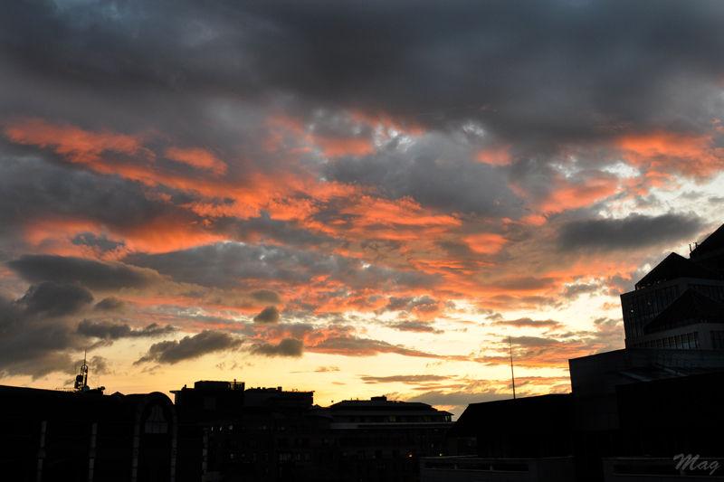 Un coucher de soleil à Dublin