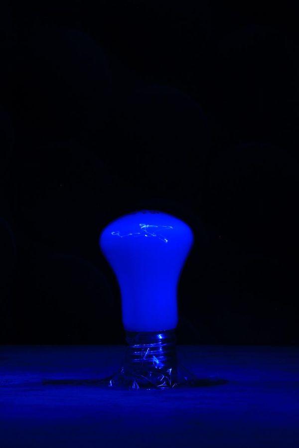 light bulb blue