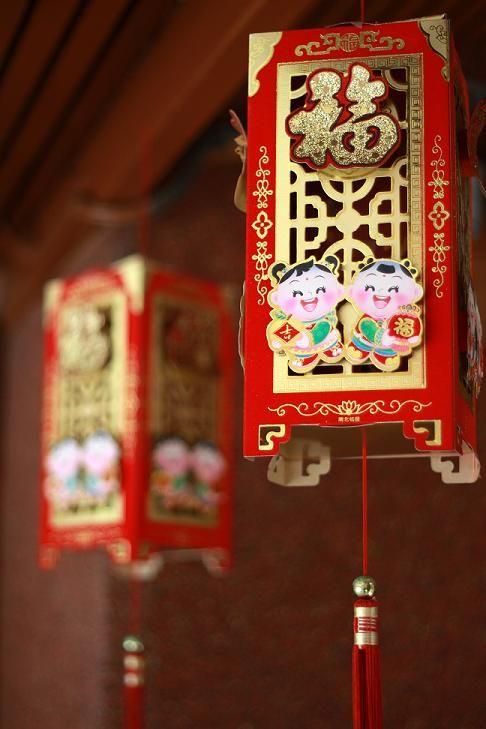 Lanterns red cny