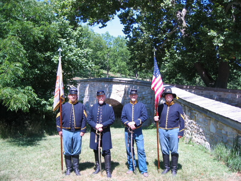 In uniform at Antietam NMP 2007