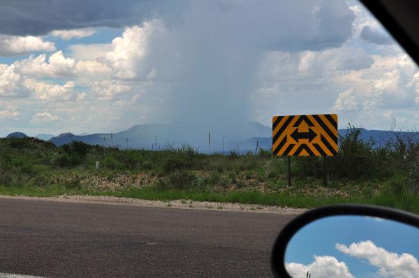 desert rain shower near panther junction