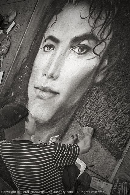 Day 21: Michael Jackson Chalk Drawing