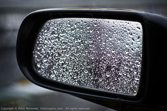 Day 39: Side Mirror Droplets