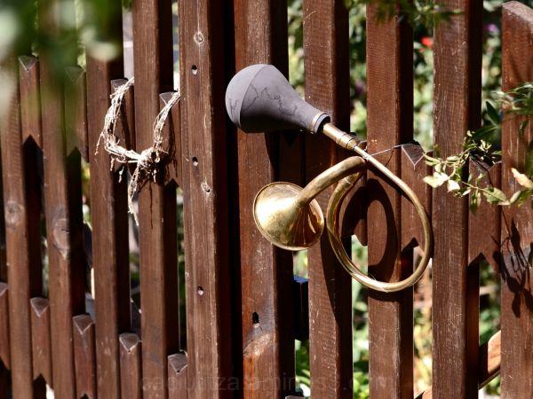 Doorbell in a Greek old village