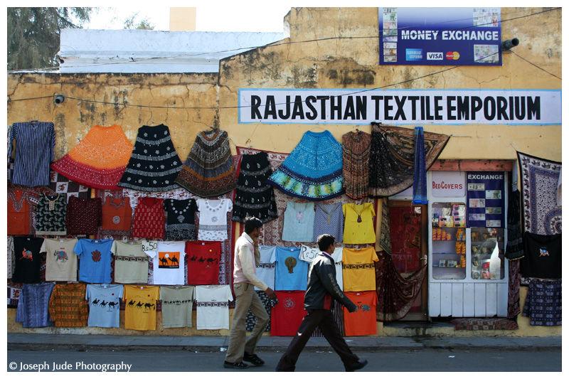 Road side textile shop