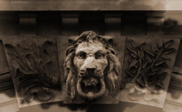 Lion Head Effigy