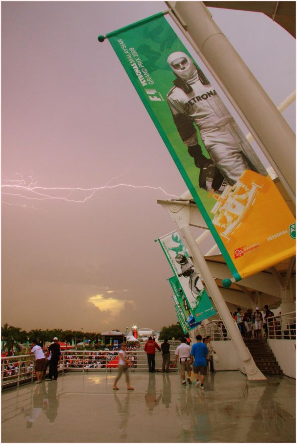 Lightning strikes on race day
