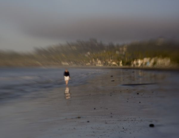 Low tide at East Beach, Santa Barbara, California
