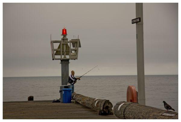 Fisherman on Stearns Wharf, Santa Barbara, CA