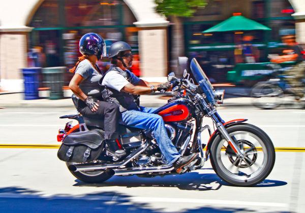 Motorcycle, State Street, Santa Barbara