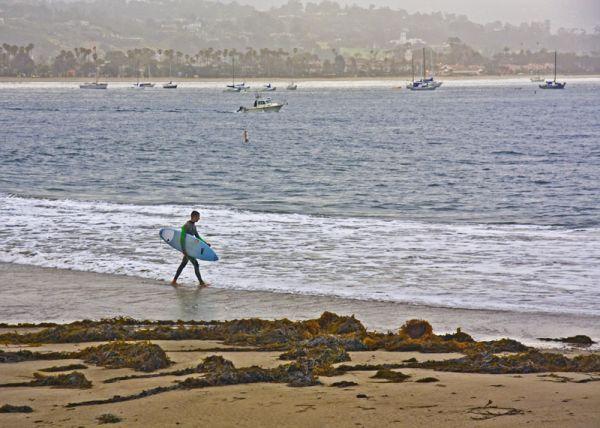 Surfer at Sandspit, Santa Barbara