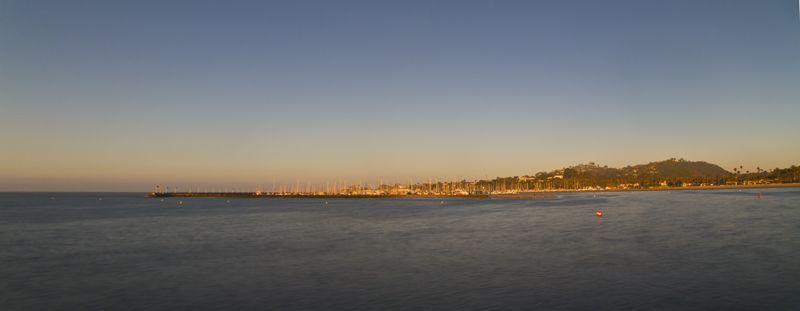 Santa-Barbara, panorama, harbor, Break