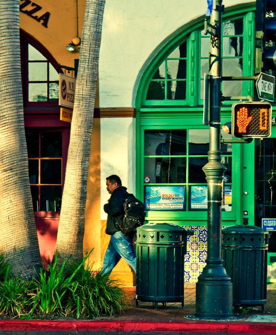 Santa-Barbara. urban, pedestrian, morning