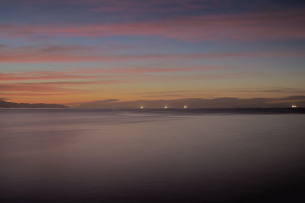 Santa-Barbara, sunrise, water