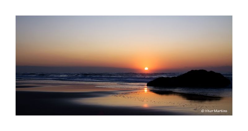 "Sunset in ""Guincho"" Beach"