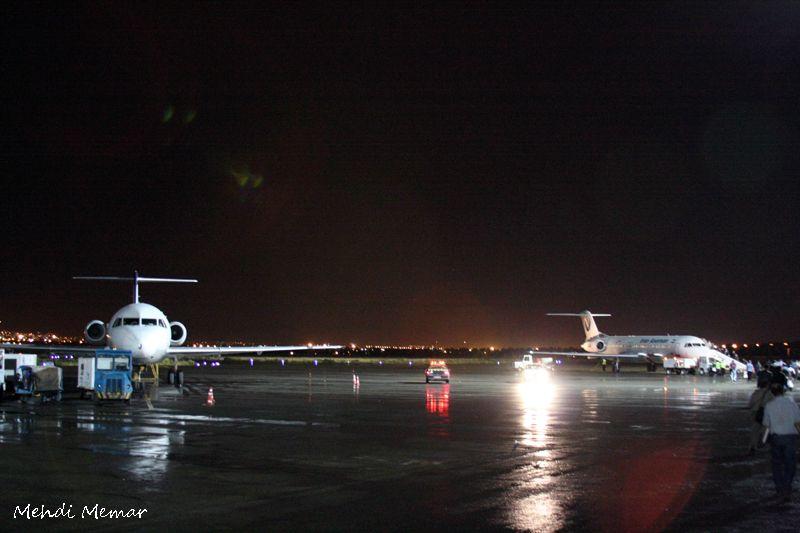 Airport at night