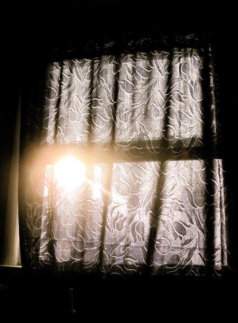 Sunrise as seen through the curtain
