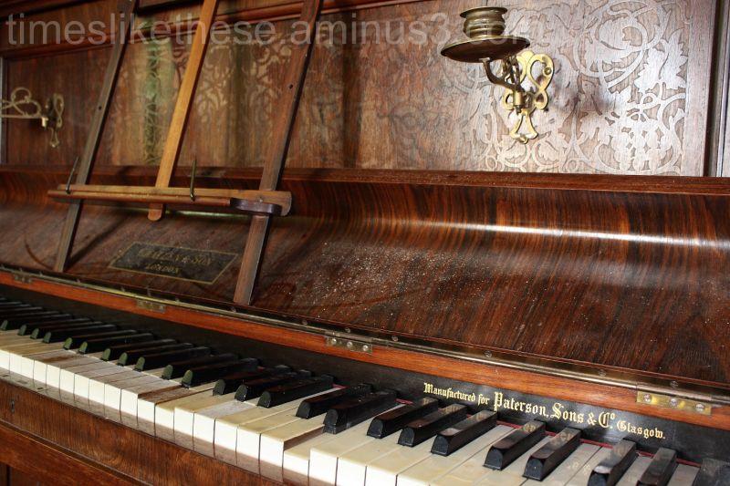 School piano Tyneham Village