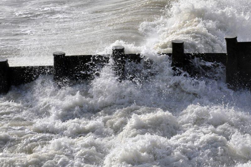 Breakwater in January, Eastbourne