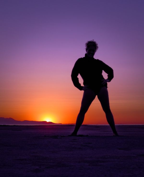 Sunset Silhouette at the Great Salt Lake