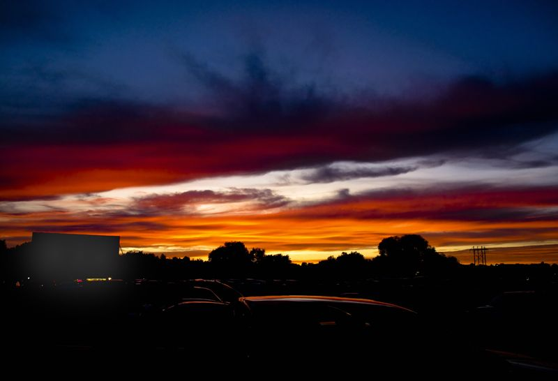Dusk at the Drive-In Theatre