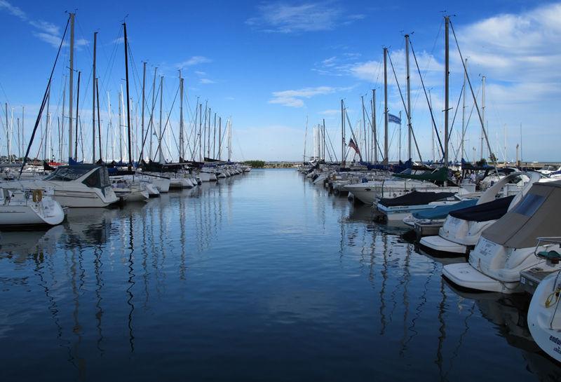 Marina in Chicago on Lake Michigan