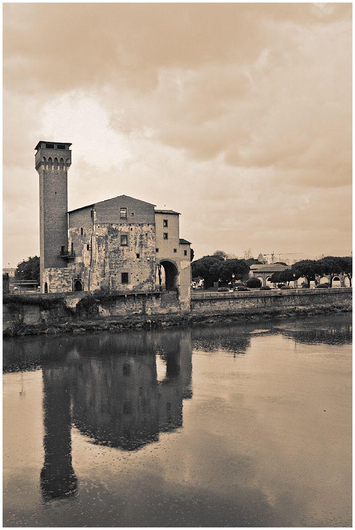 Rainy Pisa, Pisa, river, rain