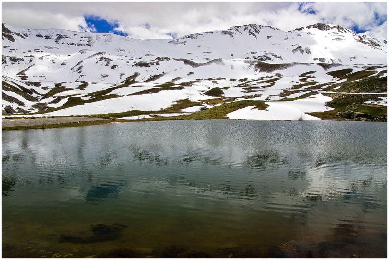Alps, Mountain lake.