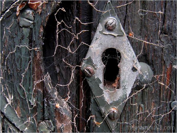 abstract keyhole door macro