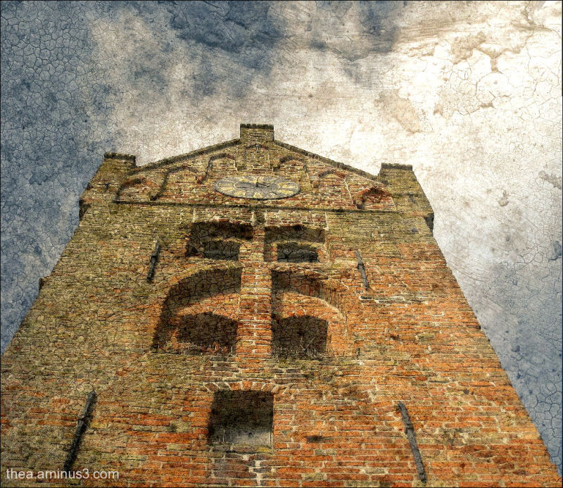 church tower Firdgum Friesland